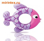 INTEX Круг Рыбки 77х76 см (бордо-розовый)