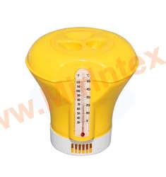 Bestway Дозатор-поплавок с термометром для бассейна 18,5 см (желтый)