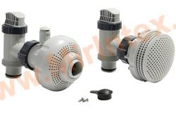 """INTEX Клапан плунжерный с фильтрующей муфтой (компл.2+2 шт) д/всех типов фильтр-нас.,патрубок 38мм (1,5"""")"""