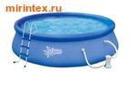 Summer Escapes Бассейн надувной 396х99см (фильтр-насос 2,27м3 220 В, лестница, подстилка, тент)