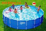 Summer Escapes Бассейн каркасный круглый 366х122 см (лестница, настил, тент)