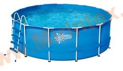 Summer Escapes Бассейн каркасный круглый 366х132 см (лестница, настил, тент)
