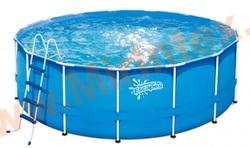 Summer Escapes Бассейн каркасный круглый 427х132 см (лестница, настил, тент)