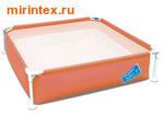 Bestway Бассейн детский каркасный 163х163х35,5 см (персиковый)