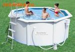 Bestway Бассейн со стальными стенками 300х120 см (фильтр-насос 2,0 м3/ч, настил, лестница, скиммер)