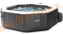 "INTEX Надувной бассейн-джакузи ""PureSpa Jet and Bubble deluxe massage set""+ хлорогенератор 201х71см"