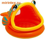 "INTEX Бассейн детский ""Рыба-шар"" с окном 124х109х71 см (от 1 года)"