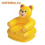 "INTEX Кресло надувное ""Медведь"" 65х64х75 см"