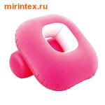 Bestway Кресло надувное флокированное Nestair 84х84х74 см розовое