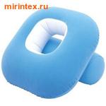 Bestway Кресло надувное флокированное Nestair 84х84х74 см голубое