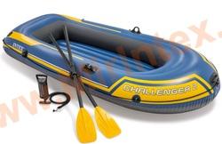 INTEX Лодка Challenger-2 236х114х41 см (пластмассовые вёсла, ручной насос)