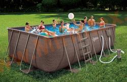 Summer Escapes Р20-2052-В Каркасный бассейн 549х274х132 см (картриджный фильтр-насос3,8м3/ч, лестница, подстилка, тент, набор для чистки DELUXE, скиммер)