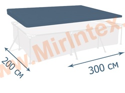 INTEX Тент для прямоугольного каркасного бассейна 300х200 см