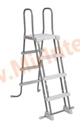 INTEX 28076 Лестница с площадкой и съемными ступеньками для бассейна высотой 122 см, Pool Ladder (с родительским контролем)