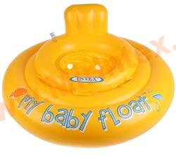 INTEX 56585 Круг для плавания My baby float, с сиденьем, d=70 см, от 6-12 месяцев.