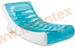 INTEX 58856 Шезлонг для плавания надувной, 2 камерный, 188 х 99 см. (без насоса)