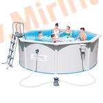 Bestway Бассейн со стальными стенкам 360х120см (фильтр-насос 2,0 м3/ч, подстилка, лестница, скиммер)