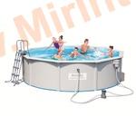 Bestway Бассейн со стальными стенками 460х120см (фильтр-насос 2м3/ч, настил, лестница, скиммер)