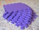 Мягкий детский конструктор (Фиолетовый) 33х33х0.9 см