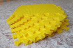 Мягкий детский конструктор (Жёлтый) 33х33х0.9 см