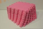 Мягкий детский конструктор (Розовый) 33х33х1,8см