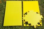 "Будо-мат ""С креплением ласточкин хвост"" 50х50х2,5см (Салатово-жёлтый)"