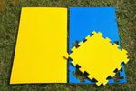 """Будо-мат """"С креплением ласточкин хвост"""" 50х50х2,5см (Сине-жёлтый)"""