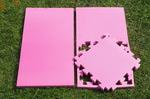 """Будо-мат """"С креплением ласточкин хвост"""" 50х50х2,5см (Розовый)"""