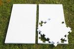 "Будо-мат ""С креплением ласточкин хвост"" 50х50х2,5см (Белый)"