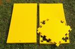 "Будо-мат ""С креплением ласточкин хвост"" 50х50х2,5см (Жёлтый)"