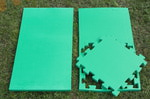 """Будо-мат """"С креплением ласточкин хвост"""" 50х50х2,5см (Зелёный)"""