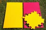 "Будо-мат ""С креплением ласточкин хвост"" 50х50х1,8см (Красно-жёлтый)"