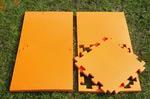 "Будо-мат ""С креплением ласточкин хвост"" 50х50х1,8см (Оранжевый)"