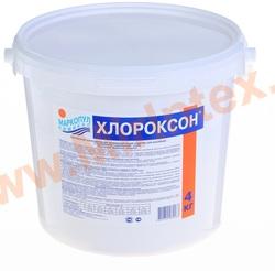 """Хлороксон 4 кг хлорное гранулированное средство """"3 в 1"""" для комплексной обработки бассейнов"""