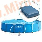 INTEX Чаша для круглых каркасных бассейнов Metal Frame 457х91 см