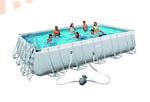 Bestway Бассейн каркасный прямоугольный 488х274х122 см (видео, фильтр-насос 3,0 м3/ч, настил, тент, лестница)