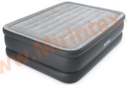 Надувные кровати INTEX ESSENTIAL REST AIRBED 152х203х51 см (с встроенным насосом 220В)