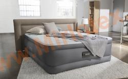 Надувные кровати INTEX PremAire Elevated Airbed 152х203х46 см,с встроенным насосом 220В