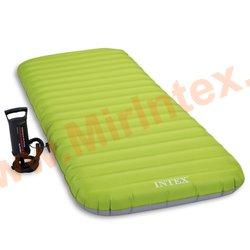 Надувные матрасы INTEX Roll N GO BED 76х191х13 см,с ручным насосом