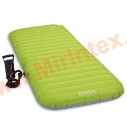 Надувные матрасы INTEX Roll N GO BED 76х191х13 см + ручной насос
