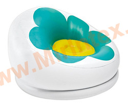 "INTEX Кресло надувное ""Blossom Chair"" 102х99х64 см (зелёное)"
