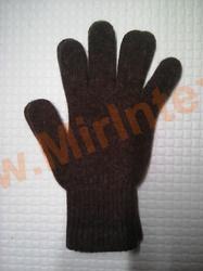"""Перчатки из верблюжьей шерсти """" коричневые"""""""
