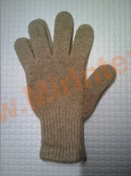 "Перчатки из шерсти яка ""бежевые"""