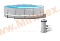INTEX Бассейн каркасный круглый Intex 305х76 см (с картриджным фильтр-насосом 1250 л/ч))