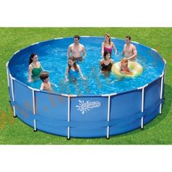 Summer Escapes Бассейн каркасный круглый 396х99 см (лестница, настил, тент)