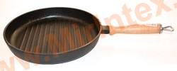 Эколит Сковорода гриль 260х40 мм (чугун)