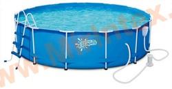 Summer Escapes Бассейн каркасный круглый 396х99 см (фильтр-насос 3,0м3/ч 220В, лестница, настил, тент, набор для чистки DELUXE, скиммер)
