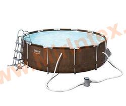 Bestway Бассейн каркасный круглый 366х100 см (фильтр-насос 2,0 м3/ч, лестница)