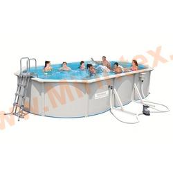 Bestway Бассейн со стальными стенками 610х360х120 см (фильтр-насос 5,6 м3/ч, настил, лестница, скиммер)