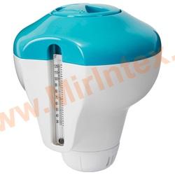 INTEX Дозатор-поплавок с термометром для гранул и таблеток 2.54см